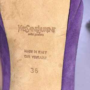 Yves Saint Laurent Shoes - YSL 'Tribute Mary Jane' purple and black